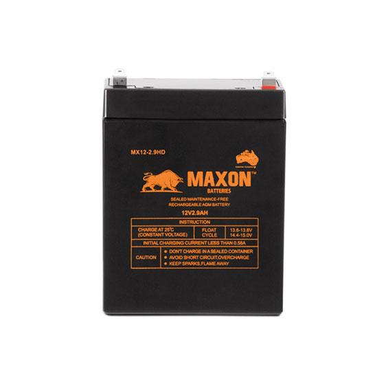 Maxon AGM deep cycle MX12-2.9HD