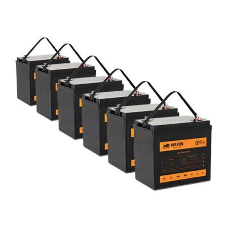 Maxon EV Gel Cell 36V Battery Bank MEVG-105 x 6