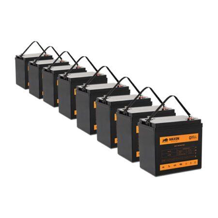 Maxon QCELL golf cart battery MEVG-105x8
