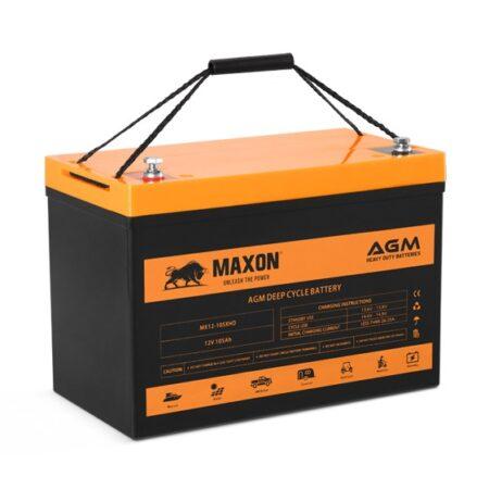 Maxon AGM Heavy Duty Battery MX12-105XHD