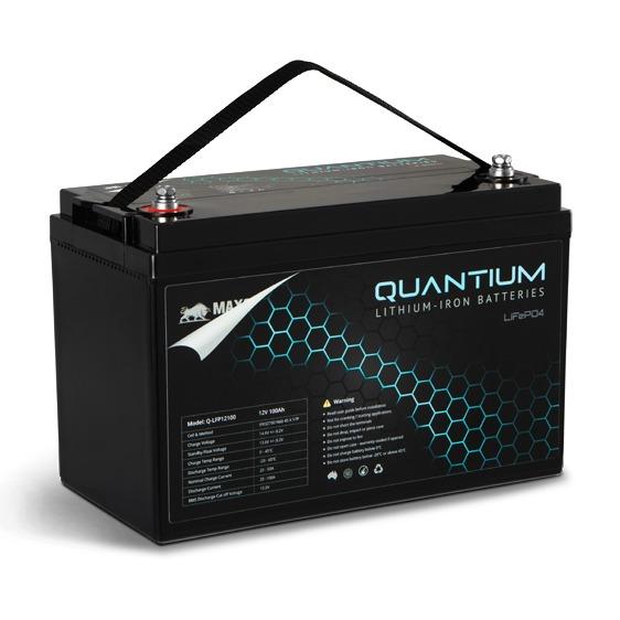 Quantium LFP 12V 100A Lithium Iron Battery LiFePO4 Deep Cycle Q-LFP12100